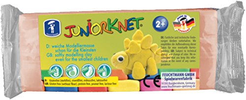 Feuchtmann 628.0013-11 - JUNiORKNET geschmeidige Knete 2+, ca. 150 g, hautfarben, ideales Geschenk für kreatives Spielen