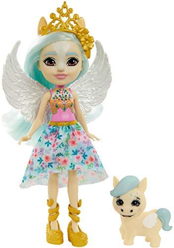 Enchantimals GYJ03 - Paolina Pegasus Puppe & Wingley Tierfreundin Figur, Puppe (15,2 cm) mit abnehmbarem Rock und Zubehör, aus der Royals Kollektion, tolles Geschenk für Kinder von 3 bis 8Jahren