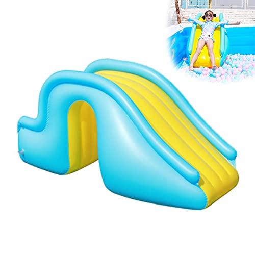 HT&PJ Aufblasbare Wasserrutsche, Poolrutsche, breitere Stufen Design, aufblasbare Wasserrutsche für Pool, aufblasbares Wasserspiel-Center, Sommerwasserspielzeug Schwimmbadzubehör (Blau)