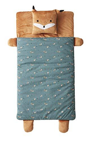Vertbaudet Kinder-Schlafsack,Fuchs graugrün/braun ONE Size
