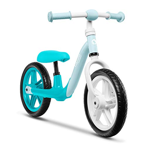Lionelo Alex Laufrad Kinder Fahrrad bis 30 kg Sattel und Lenker einstellbar 12 Zoll Eva Schaumräder robuste Konstruktion Lenkeinschlagsbegrenzung EN 71 (Türkis)