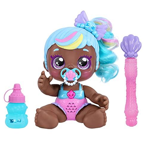 Kindi Kids 50228 Baby Doll Elektronische 16,5 cm Puppe und 2 Shopkin Accessoires, Bonnie Bubbles