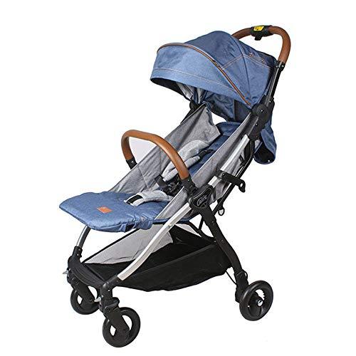 PRG Faltbarer Kinderwagen, mit 4 rädern, Buggy, Reisebuggy, Kinderbuggy, Regenverdeck, Einhand-Faltmechanismus, Liegefunktion,5-Punkt-Sicherheitsgurt, für ab 0 Monate -3Jahre (0-25KG)