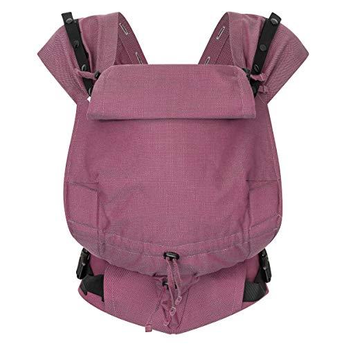 Hoppediz Primeo Full-Buckle Babytrage ✓ ab Geburt ✓ Bauchtrage ✓ Rückentrage ✓ verstellbarer Steg ✓ 100% Bio-Baumwolle | Design Mallorca