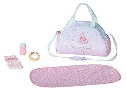 Baby Annabell 703151 Wickeltasche für 43cm Puppe - Leicht für kleine Hände, Kreatives Spiel fördert Empathie & Soziale Fähigkeiten, für Kleinkinder ab 3 Jahren - Inklusive Wickelauflage & mehr