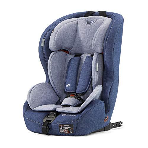 Kinderkraft Kinderautositz SAFETY FIX, Autokindersitz, Autositz, Kindersitz mit Isofix und Top Tether, Gruppe 1/2/3 9-36kg, 5 Punkt Sicherheitsgurt, Einstellbare Kopfstütze, ECE R44/04, Dunkelblau