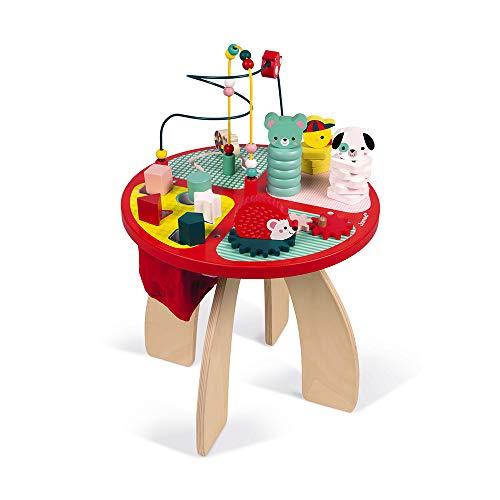 Holz-Spieltisch zum Stapeln, Bauen und Greifen