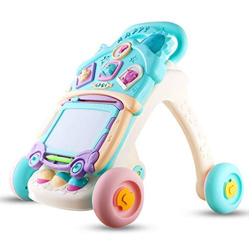 KAILUN Lauflernhilfe Lauflernwagen Baby Walker Trolley Sit-to-Stand Walker Kind Frühes Lernen Bildung Wissenschaft Kleinkind,B