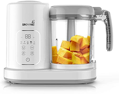 Babynahrungszubereiter | Babybrei Zubereiter | Food Processor Dampfgarer Baby , Konstante Temperatur 24h, Auto Kochen & Zerkleinern