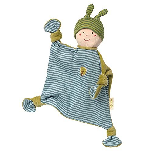 SIGIKID 38850 Schnuffeltuch Wichtelchen Green Mädchen und Jungen Babyspielzeug empfohlen ab Geburt blau
