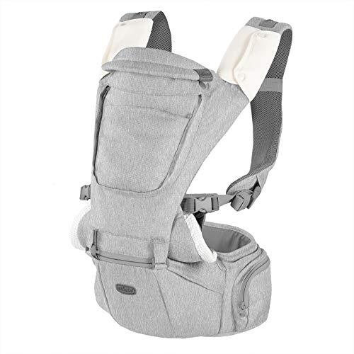 Chicco Hip Seat Ergonomische Babytrage für 0 Monate bis 15 kg, Multifunktionale 3 in 1 Trage und Hüftsitz, mit Gepolsterten Schulterriemen und Kapuze, 8 Positionen