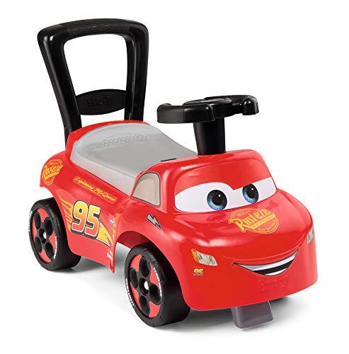 Smoby 720523 Mein erstes Auto Rutscherfahrzeug Cars, Kinderfahrzeug mit Staufach und Kippschutz, für drinnen und draußen, Cars Design, für Kinder ab 10 Monaten, Rot