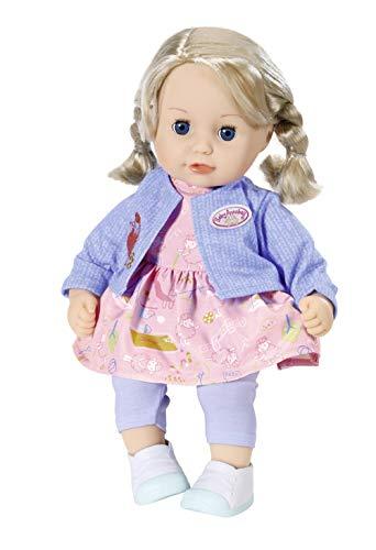 Zapf Creation 704264 Baby Annabell Little Sophia Puppe mit Haaren und Schlafaugen 36 cm, Online Verpackung