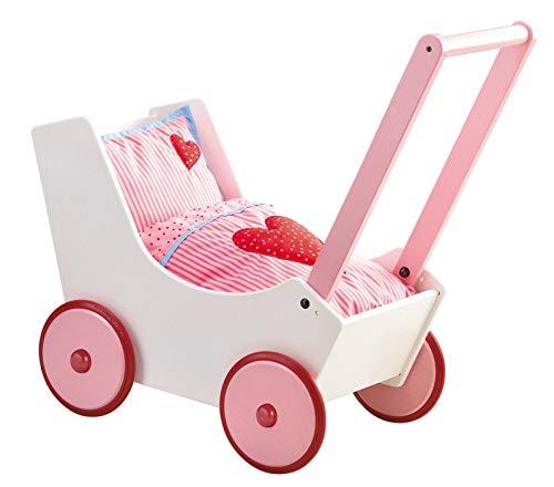 Haba Puppenwagenmit verstellbarem Bügel und Zubehör