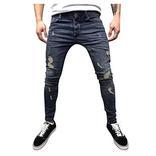 Herren Denim Pants Hose Casual Jeans Jogger Sporthose Freizeithose Outdoorhose Fitness Bodybuilding Trekkinghose Pocket Skin Full Length Wanderhose Strandhose Streetwear