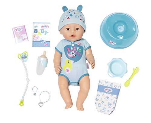 BABY born Zapf Creation 826072 Soft Touch Boy Puppe mit lebensechten Funktion und viel Zubehör, bewegliche Gelenke und weiche Soft-Touch-Oberfläche, 43 cm