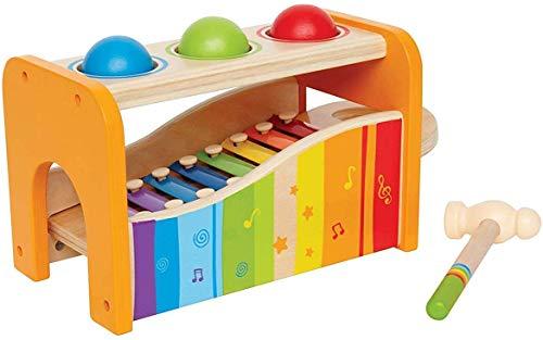 Hape E0305 - Xylophon und Hammerspiel, Klopfbank, aus Holz, ab 12 Monate