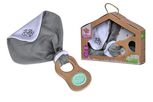 Eichhorn - Baby Pure Greifling mit Schmusetuch - aus FSC 100% zertifiziertem Buchenholz, nachhaltiges Holzspielzeug, mit Spiegel, BPA frei, für Kinder ab den ersten Lebensmonaten geeignet