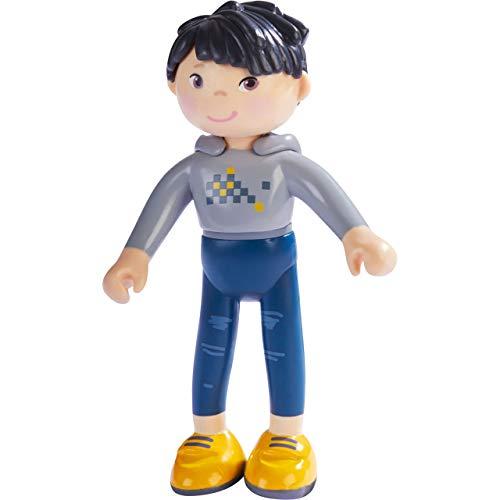 HABA 303890 - Little Friends – Liam | Coole Minipuppe ab 3 Jahren | Strapazierfähige Biegepuppe aus Kunststoff für lange Spielfreude
