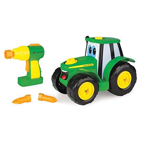 John Deere 46655 Bau-Dir-Deinen-Johnny-Traktor, Kinder Traktor zum Selbstbauen, Hochwertiger Traktor für Kinder ab 18 Monaten, Spielen und Sammeln, Spielzeugtraktor, Weihnachtsgeschenk, ab 18 Monaten