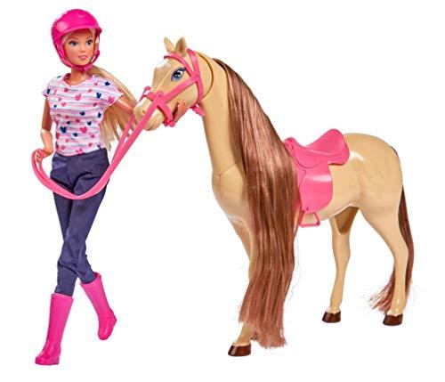 Simba 105730939 - Steffi Love Riding Tour / im Reitoutfit / mit 2 Pferd / vollbewegliche Puppe / Ankleidepuppe / 29cm, für Kinder ab 3 Jahren