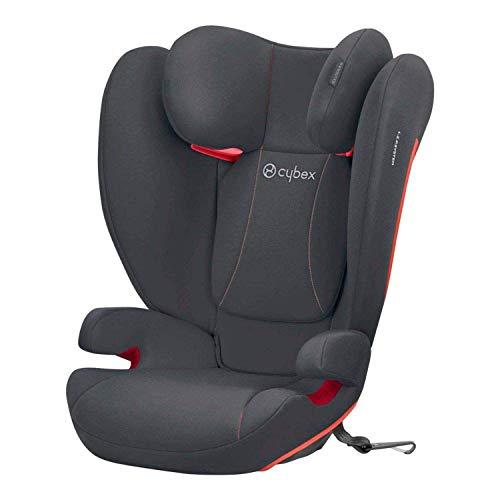 CYBEX Silver Kinder-Autositz Solution B-Fix, Für Autos mit und ohne ISOFIX, Gruppe 2/3 (15-36 kg), Ab ca. 3 bis 12 Jahre, Steel Grey
