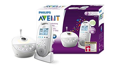 Philips AVENT SCD585/26 Audio-Babyphone mit DECT-Technologie, Sternenhimmel-Projektor, weiß