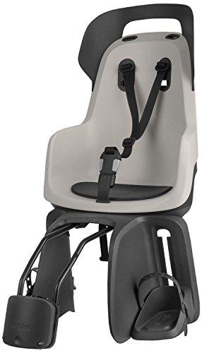 Bobike Unisex-Adult Kindersitz Mini Exclusive Fahrradsitz Hinten, Urban Black, One Size
