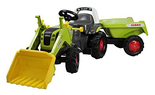 Rolly Toys 02 515 2 Trettraktor rollyKid Claas rollyKipper II (Tretfahrzeug mit Frontlader-Schaufel und Kipp-Anhänger, für Kinder von 2,5-5 Jahre) 025152