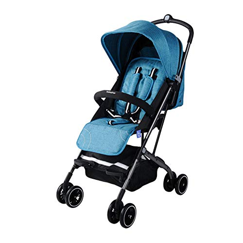 DGHJK Faltbarer Kinderwagen, Buggy, Reisebuggy, Kinderbuggy, Regenverdeck, Einhand-Faltmechanismus, Liegefunktion,5-Punkt-Sicherheitsgurt, für Jungen und Mädchen ab 0 Monate -3Jahre