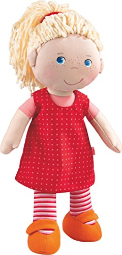 HABA 302108 - Puppe Annelie, Stoffpuppe mit Kleidung und Haaren, 30 cm, Spielzeug ab 18 Monaten