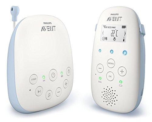 Philips AVENT SCD715/26 Baby-Videoüberwachung 330 m Blau, Weiß - Babyfon (330 m, 50 m, 330 m, Blau, Weiß, LCD, Wechselstrom, Batterie)