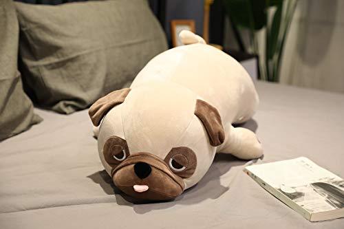 MEKTSA 55-90cm Große Größe Netter Mops Hund Plüschtiere Tierpuppen Weiches Shiba Inu Chai Kissen für Kinder Mädchen Geburtstagsgeschenk 90cm