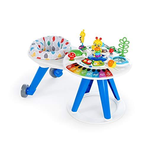 Baby Einstein Around We Grow 4-in-1 Spieltisch und Lauflernhilfe, höhenverstellbar, mit Musik, abnehmbarer Spielstation, 15 Spielzeugen und vielem mehr