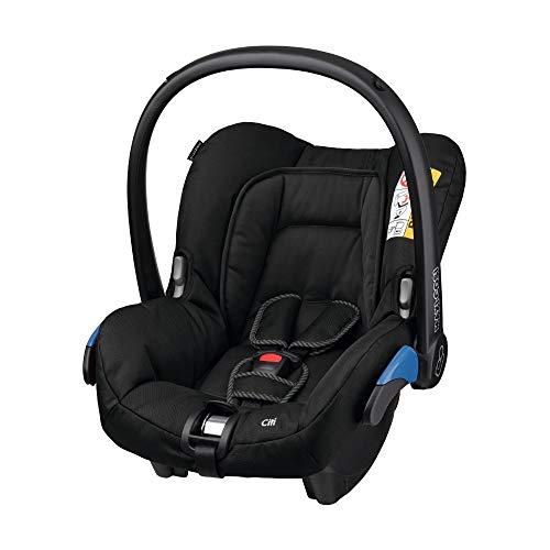Maxi-Cosi Citi Babyschale, federleicht, Gruppe 0+ Kindersitz (0-13 kg), nutzbar ab der Geburt bis 12 Monate, Black Raven