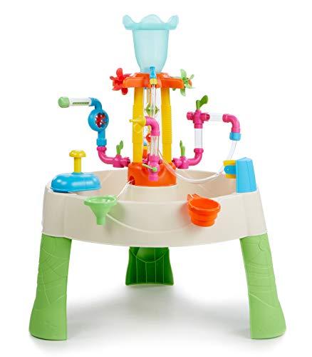 Little Tikes Fountain Factory Wassertisch, Garten-Spielzeug, Sicherer und Tragbarer Kindertisch, Sensorik-Spielzeug für Draußen; Fördert Fantasievolles Spielen, Ab 24 Monaten