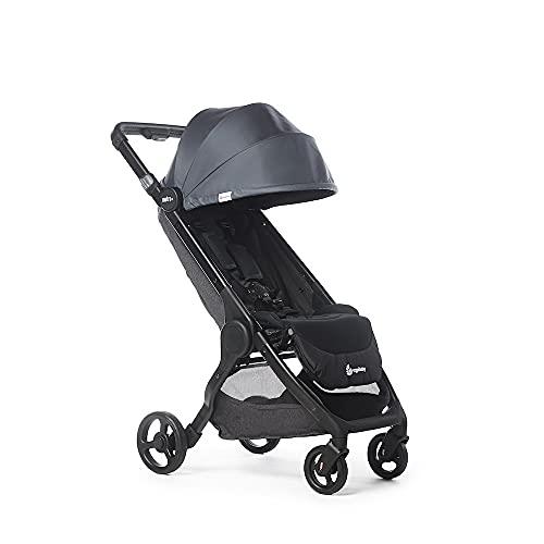 Ergobaby Metro+ Kinderwagen Buggy mit Liegefunktion, Kinder-Buggy Zusammenklappbar Autositz Kompatibel Klein Leicht Kompakt (Schwarz, Metro+)