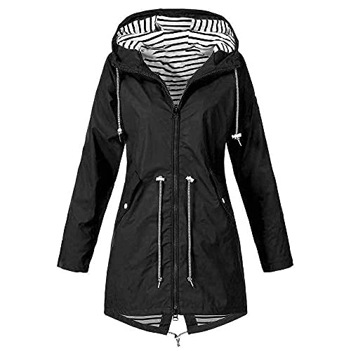 Bolonwzi Damen Softshelljacke Regenmantel Leicht Parka Coat Herbst Winter Jacke Zipper Winterparka Bomberjacken