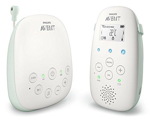 Philips AVENT SCD711/52 Baby-Videoüberwachung 50 m Grün, Weiß - Babyfon (50 m, 50 m, 330 m, Grün, Weiß, LCD, AC, Batterie)
