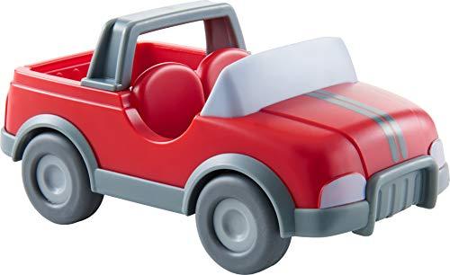 HABA 303671 - Little Friends – Tierarzt-Auto | Fahrzeug für Little Friends-Biegepuppen | Tolles Zubehör für die Little Friends-Spielwelt | Auto mit Schwungmotor für Kinder ab 3 Jahren