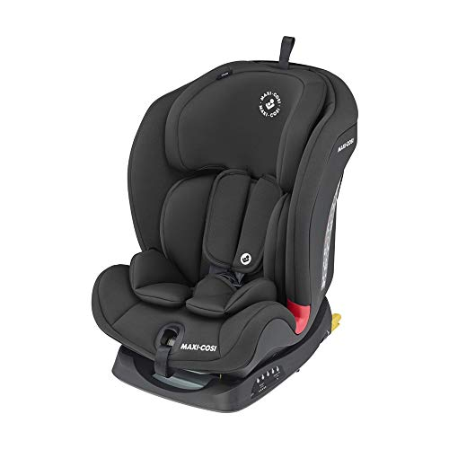 Maxi-Cosi Titan, Mitwachsender Kindersitz mit ISOFIX und Ruheposition, Gruppe 1/2/3 Autositz (9-36 kg), Nutzbar ab ca. 9 Monate bis ca. 12 Jahre, Basic Black (schwarz)