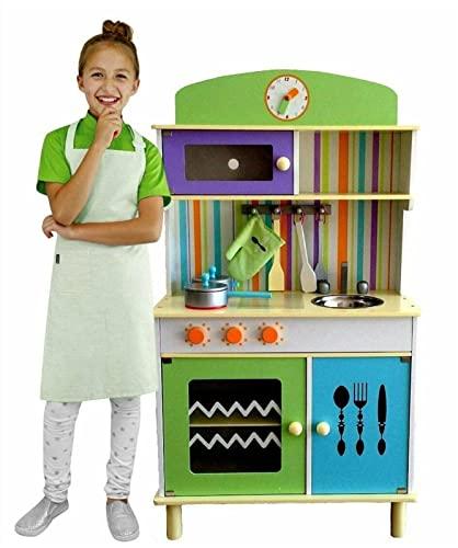 Kinderküche aus Holz Kinderküche Holz Spielküche Kinderspielküche Spielzeugküche Holzküche Küche Grün
