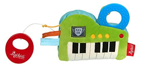 SIGIKID 42659 Spieluhr Keyboard -Für Elise- Play & Cool Mädchen und Jungen Babyspielzeug empfohlen ab Geburt grün/blau