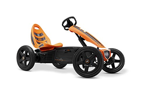 Berg Pedal Gokart Rally Orange | Kinderfahrzeug, Tretauto mit Optimale Sicherheid, Luftreifen und Freilauf, Kinderspielzeug geeignet für Kinder im Alter von 4-12 Jahren