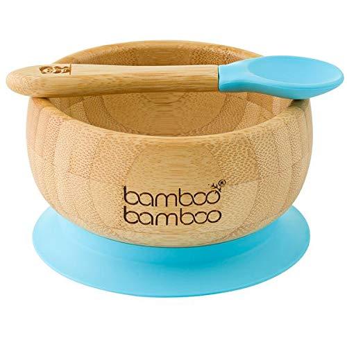Bambus Breischale mit Saugnapf und Löffel