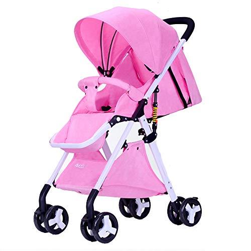 PRG Faltbarer Kinderwagen,Buggy, Reisebuggy, Kinderbuggy, Regenverdeck, Einhand-Faltmechanismus, Liegefunktion,5-Punkt-Sicherheitsgurt, für ab 0 Monate -3Jahre (0-25kg)
