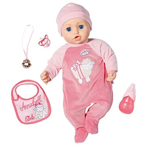 Zapf Creation 794999 Baby Annabell Puppe Annabell mit lebensechten Funktionen und Zubehör 43 cm, rosa