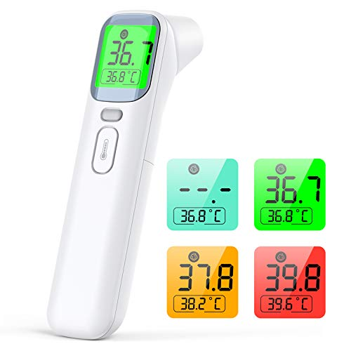 Fieberthermometer Kontaktlos IDOIT Digitales Kinder Stirnthermometer Infrarot mit sofortige Messung Fieberalarm Thermometer Professionell ideal für Babys Erwachsener