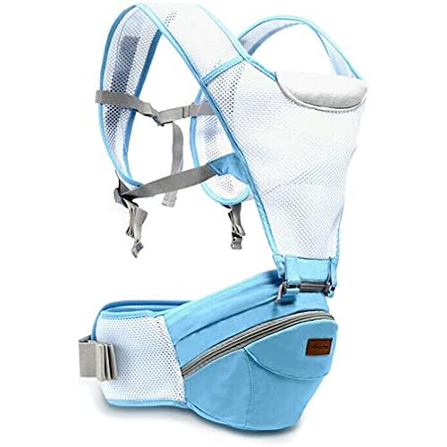 FOMT Babytrage 360 ° Atmungsaktiver Premium-Hüftsitz Babytrage Ergonomisch Mumientasche,Atmungsaktiver Netzrücken Leicht Zu Tragen Und Einfach Zu Mutter An Das Wachstum Ihres Kindes Angepasst,Blau
