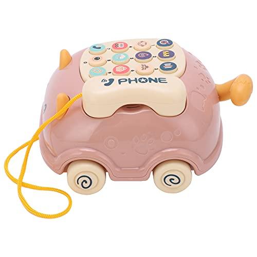 Luroze Babyphone Spielzeug, 16 Funktionen Baby Handy Autotelefon Haltbarer Kunststoff für für Simulation Katzentelefon für Spielzeug für(Rosa)